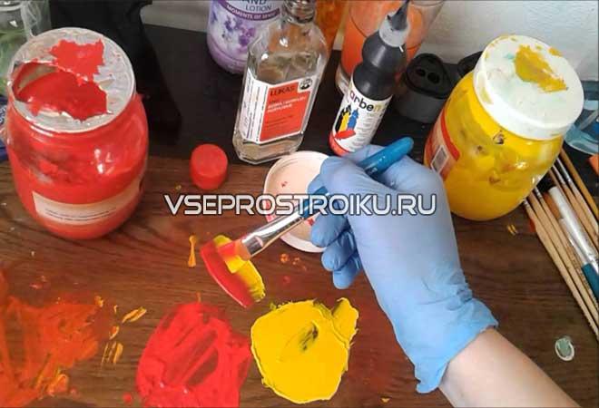 Чем можно разбавить акриловую краску для рисования